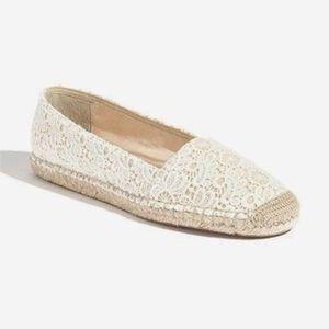 Fanco Sarto Crochet Lace Flats